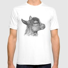 Goat baby G099 SMALL Mens Fitted Tee White