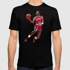 Vintage Michael Jordan SMALL Black Mens Fitted Tee