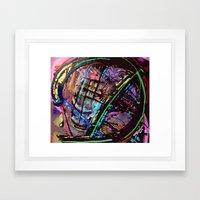 Broken Sphere Framed Art Print