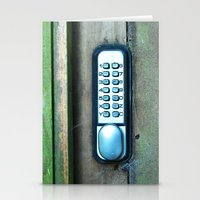 Combination Lock Stationery Cards