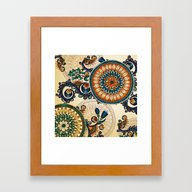 Indian Feather Pattern Framed Art Print