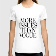 More Issues Than Vogue Womens Fitted Tee White SMALL