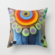 Hippie Flowers  Throw Pillow