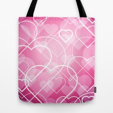 Hard line Heart Bokeh Tote Bag