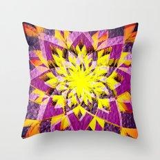 Star Blossom Throw Pillow