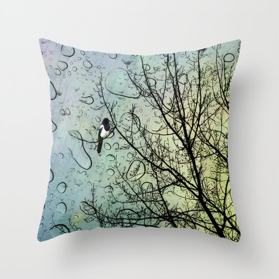 One for Sorrow Throw Pillow