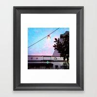 Retro Sunset Framed Art Print