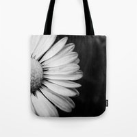 Black And White Flower M… Tote Bag