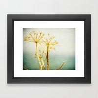 Golden & Blue Framed Art Print