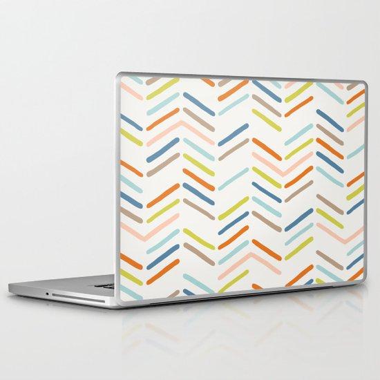 Mixed Herringbone - in Burnt Orange Laptop & iPad Skin