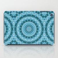 Light Blue Kaleidoscope / Mandala iPad Case