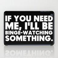 Binge Watching iPad Case