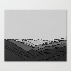 Mountains in Fog Canvas Print