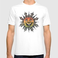 Sun Face - Rasta Mens Fitted Tee White SMALL