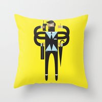 Back To Business Throw Pillow
