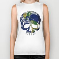 Skull Earth Biker Tank