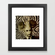 Framed Art Print featuring Elephant Man by Rosa Picnic