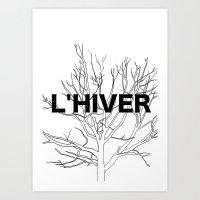 L'HIVER Art Print