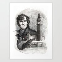 sherlock Art Prints featuring Sherlock  by RileyStark