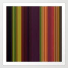 Fall stripes 1  Art Print