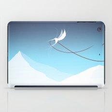 Hummingbird and a red thread iPad Case