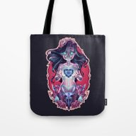 Tote Bag featuring Ghost Girl by RibkaDory