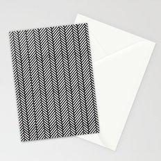 Herringbone Black Stationery Cards