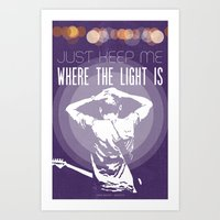 John Mayer Gravity Illus… Art Print