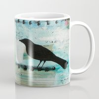 Blackbird singing Mug