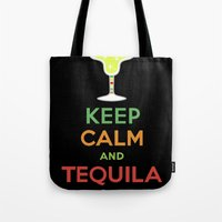 Keep Calm Tequila - black Tote Bag