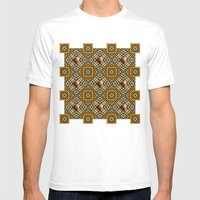 Odo Pattern Mens Fitted Tee White SMALL
