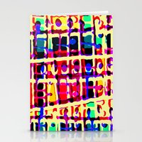 Mad colour mix - press print and digital pattern Stationery Cards