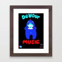 Devour Music Framed Art Print