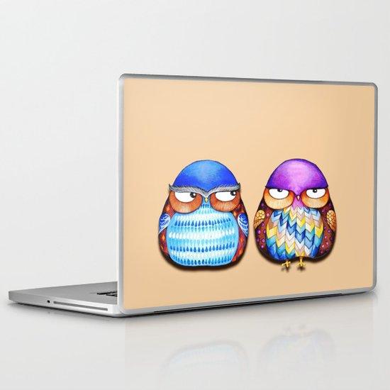 Grumpy Owls Laptop & iPad Skin