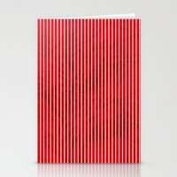 Red grunge stripes on white background Stationery Cards