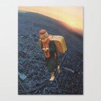 Little Boy With A Big Bu… Canvas Print