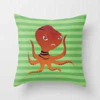 Tiger Squid Throw Pillow