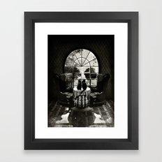 Room Skull B&W Framed Art Print