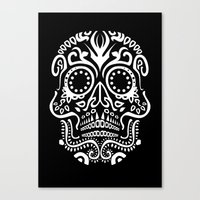 Day Of The Dead Skull Canvas Print