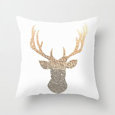GOLD DEER Throw Pillow