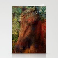 Textured Horse  Stationery Cards