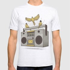 Three little birds Mens Fitted Tee Ash Grey SMALL