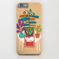 Indoor Garden With Cat iPhone 6 Slim Case
