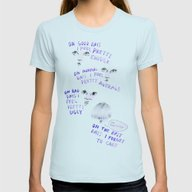 On Good Days Vs On Bad D… Womens Fitted Tee Light Blue SMALL