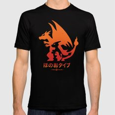 Mega Fire Mens Fitted Tee Black SMALL