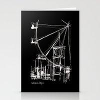 Black London Stationery Cards