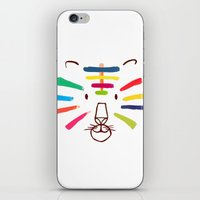 Tiger With Colorful Stripes iPhone & iPod Skin