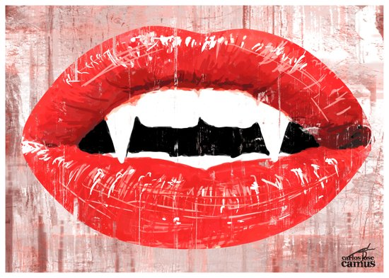Vampire's Kiss Canvas Print
