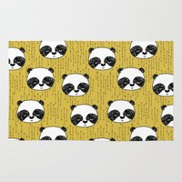 Happy Panda - by Andrea Lauren Rug