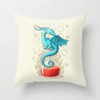 Dragon Potion Throw Pillow